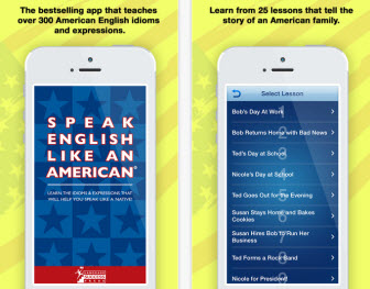 Speak English Like an American app