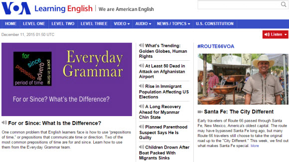 VOA Learning English 網站