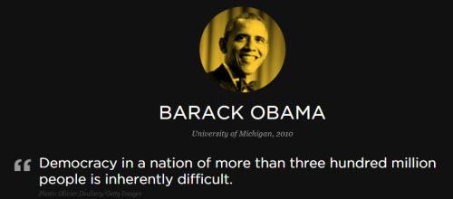 歐巴馬在密歇根大學演講的名言