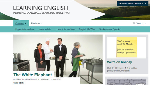 BBC英文學習網站首頁