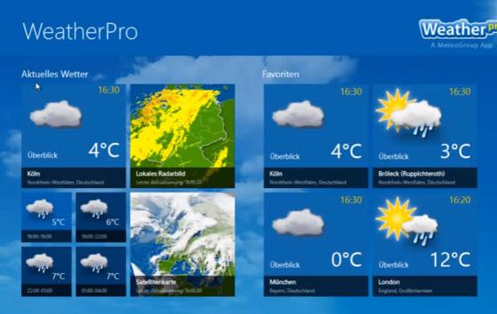 Weather Pro app