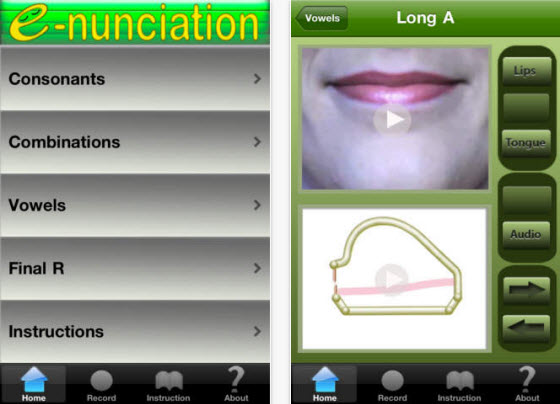 美式英語發音互動工具:E-nunciation