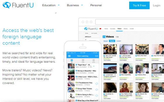 FluentU多國語言學習平台