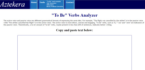 Aztekera Passive voice checker