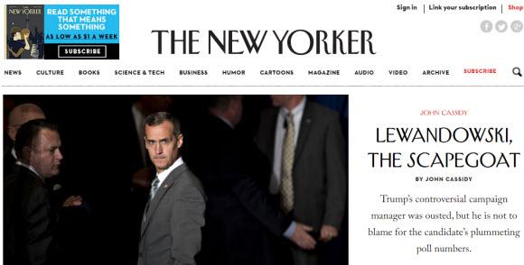 美國網站:The New Yorker