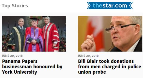 加拿大網站:The Toronto Star