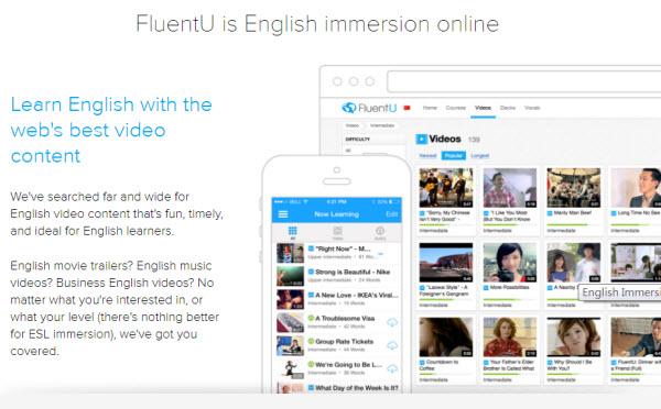 FluentU線上語言學習平台