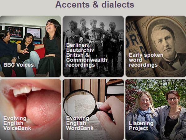 大英圖書館的Accents & dialects檔案