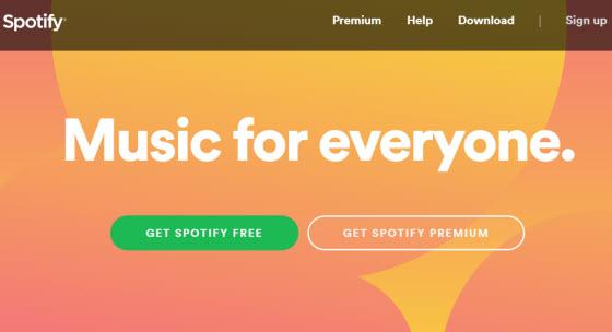 spotify 音樂網站