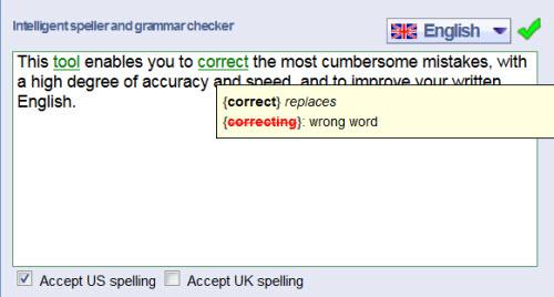 Reverso檢測出錯誤的英文文法