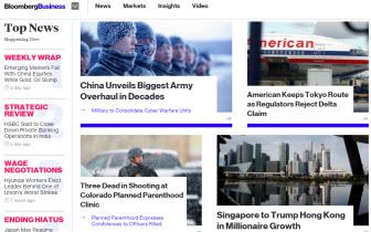 Bloomberg 英文網站