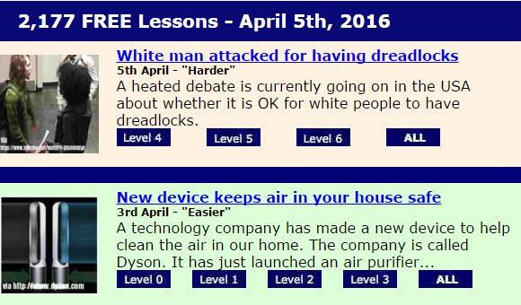 Breaking News English 網站