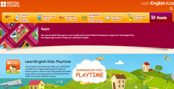 LearnEnglish Kids Apps