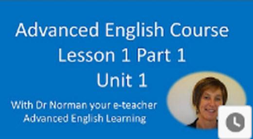 Advanced English教學