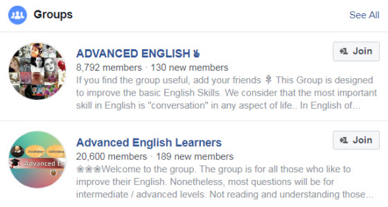 Facebook英語學習社團