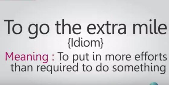 英文習慣用語:Go the extra mile