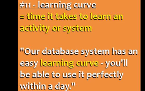 英文成語: Learning curve