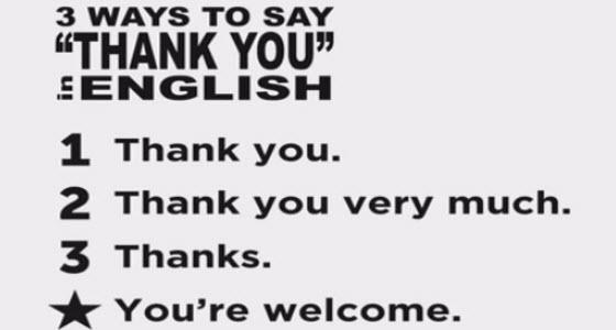 表達Thank You的英文用語